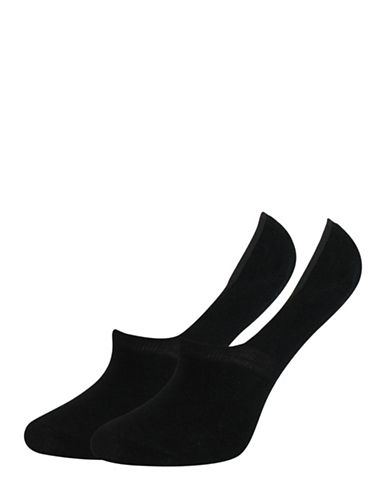 Point Zero Two-Pack Solid No-Show Socks Set-BLACK-One Size