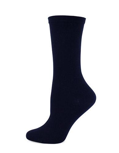 Wellness Key Wellness Crew Socks-BLUE-One Size