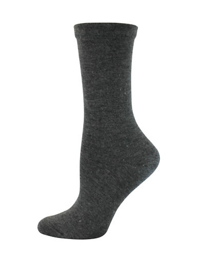 Wellness Key Wellness Padded Crew Socks-GREY-One Size
