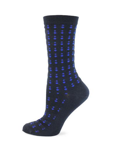 Point Zero Retro Dot Socks-BLUE-One Size