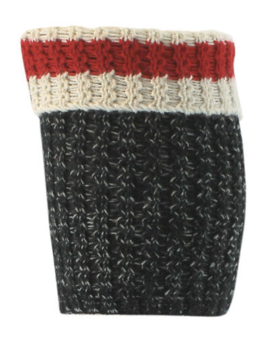 Point Zero Crochet Boot Topper-BLACK/RED-One Size