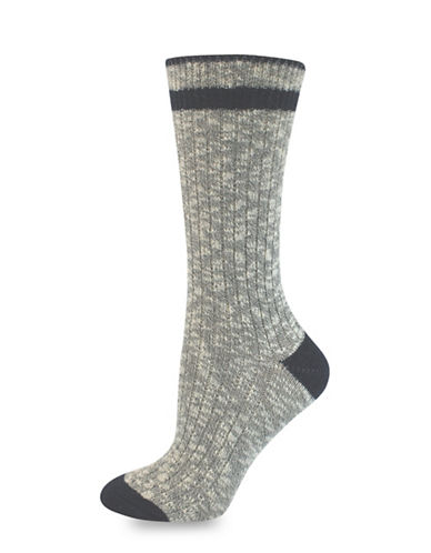 Point Zero Ribbed Socks-GREY/DENIM-One Size