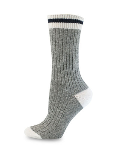 Point Zero Rib Mid-Calf Socks-GREY/DENIM-One Size