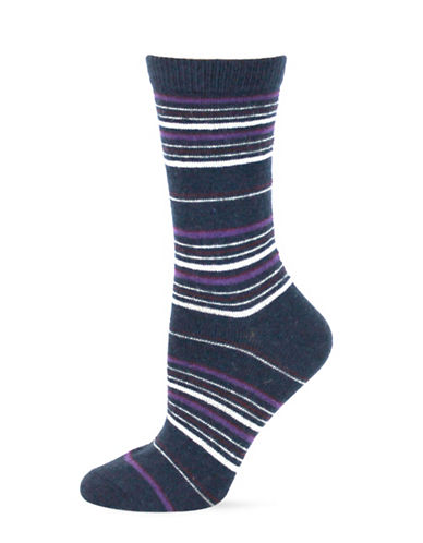 Point Zero Multi-Striped Socks-BLUE-One Size