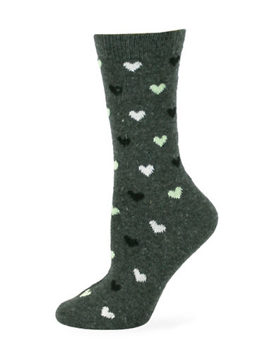Point Zero Heart Socks-BLACK-One Size