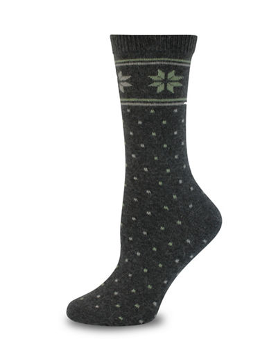Point Zero Intarsia Socks-BLACK-One Size