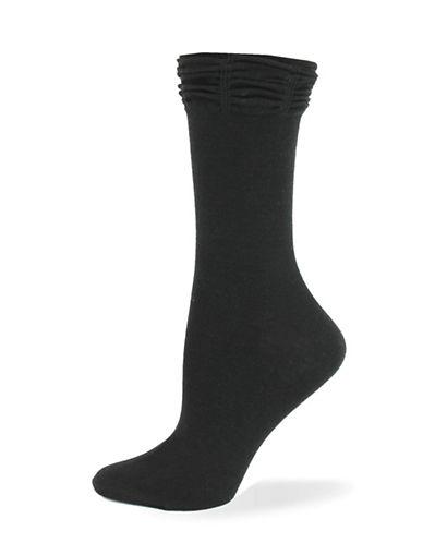 California Moonrise Ruffle Crew Socks-BLACK-One Size