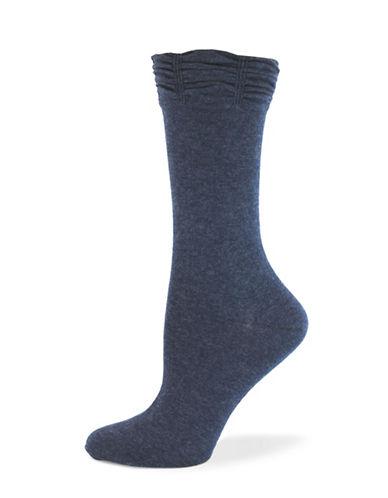 California Moonrise Ruffle Crew Socks-BLUE-One Size