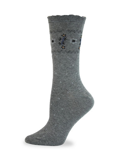 California Moonrise Victorian Crew Socks-BLACK-One Size
