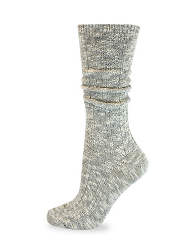 California Moonrise Cable Crew Work Socks-GREY-One Size