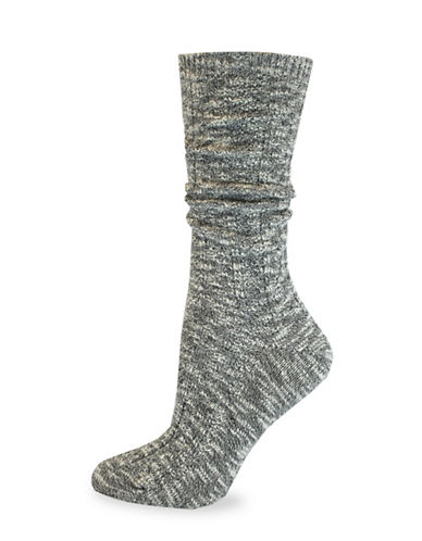 California Moonrise Cable Crew Work Socks-BLACK-One Size