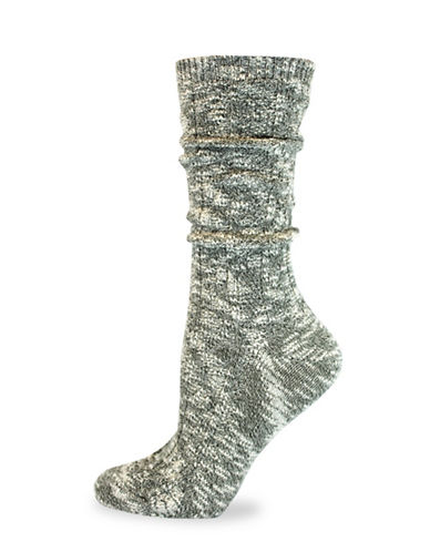 California Moonrise Cable Crew Work Socks-GREEN-One Size