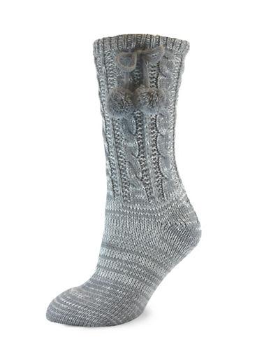 California Moonrise Womens Cozy Slipper Socks-GREY-One Size