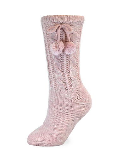 California Moonrise Womens Cozy Slipper Socks-PINK-One Size