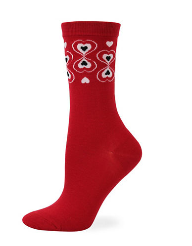 Point Zero Heart You Socks-RED-One Size