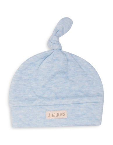 Juddlies Fleck Cotton Beanie-BLUE-Newborn
