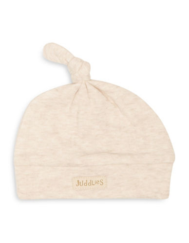 Juddlies Fleck Cotton Beanie-BEIGE-Newborn