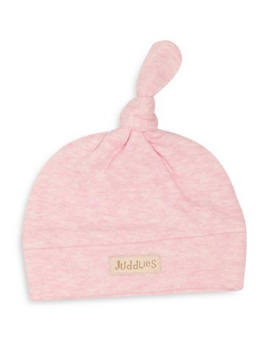 Juddlies Fleck Cotton Beanie-PINK-Newborn