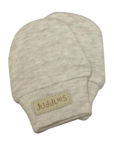 Juddlies Fleck Scratch Mitts-BEIGE-Newborn