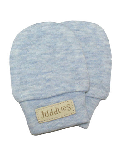 Juddlies Fleck Scratch Mitts-BLUE-Newborn