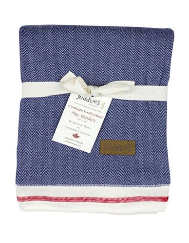 Juddlies Cottage Chevron Play Blanket-BLUE-0-12 Months