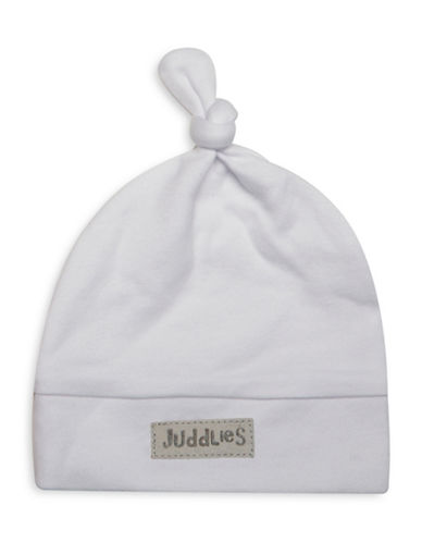 Juddlies Newborn Cotton Cap-WHITE-Newborn