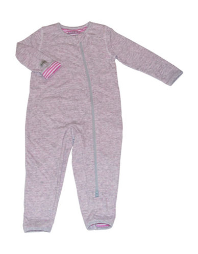 Juddlies City Asymmetrical Zip-Front Playsuit-PINK-6-12 Months