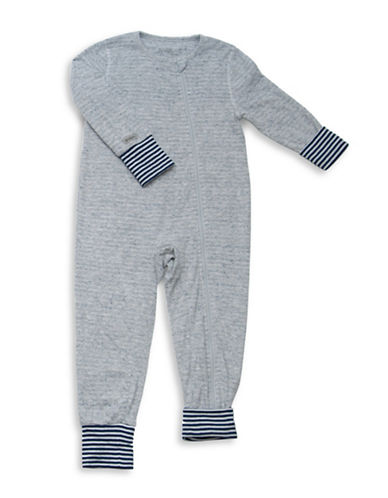 Juddlies City Asymmetrical Zip-Front Playsuit-BLUE-Newborn