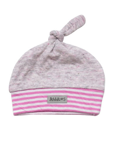 Juddlies Newborn Cotton Hat-PINK-Newborn