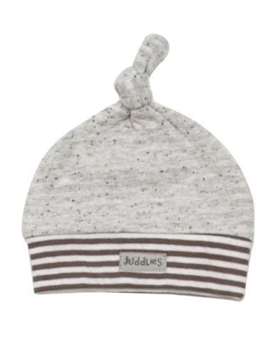 Juddlies CITY Newborn Cotton Hat-GREY-Newborn