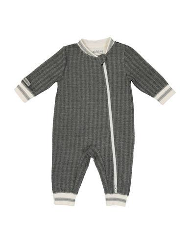 Juddlies Cottage Herringbone Playsuit-BLACK-0-3 Months