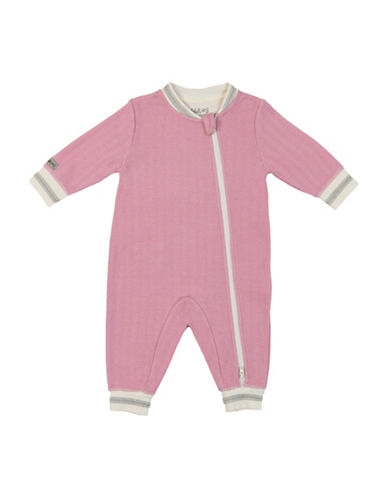 Juddlies Double Zipper Cottage Playsuit-PINK-0-3 Months