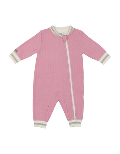 Juddlies Double Zipper Cottage Playsuit-PINK-3-6 Months