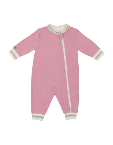 Juddlies Double Zipper Cottage Playsuit-PINK-18-24 Months