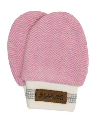 Juddlies Cottage Scratch Mitts-PINK-0-3 Months