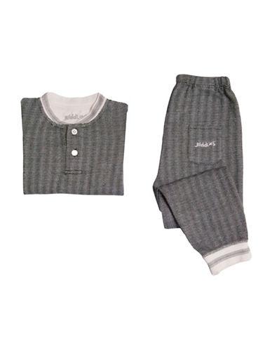 Juddlies Cottage Two-Piece Printed Pyjama Set-BLACK-2 Toddler