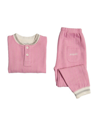Juddlies Cottage Two-Piece Printed Pyjama Set-PINK-2 Toddler
