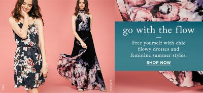 Dex mini and Xscape maxi floral dresses at thebay.com.
