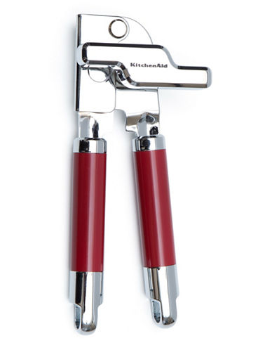Kitchenaid Two-Tone Stainless Steel Can Opener-RED-One Size