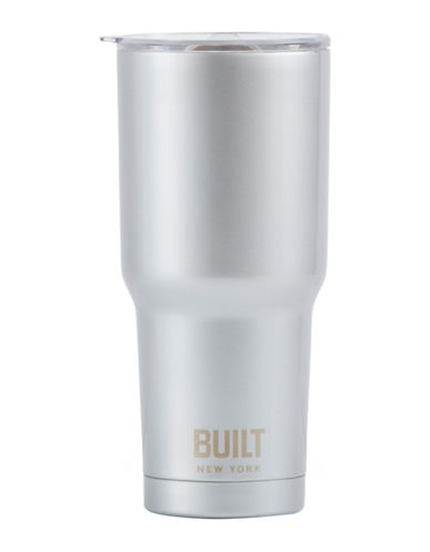 Built Tapered Graphic Tumbler-SILVER-One Size
