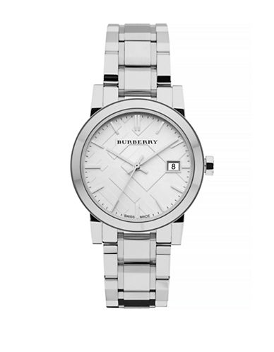 Burberry The City Analog Silvertone Watch-SILVER-One Size