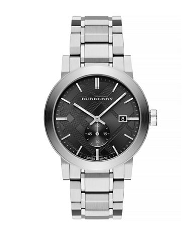Burberry Mens Analog The City Watch-BLACK-One Size