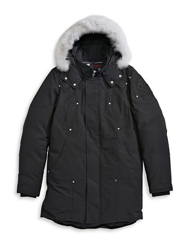 Moose Knuckles Stirling Parka with Fox Fur-BLACK-Small 88584151_BLACK_Small