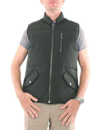 Company Of Adventurers Quilted Down Vest-GREEN-Large