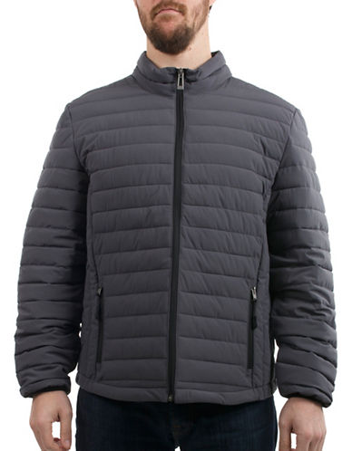 Company Of Adventurers Quilted Polyester Stretch Jacket-GREY-Small