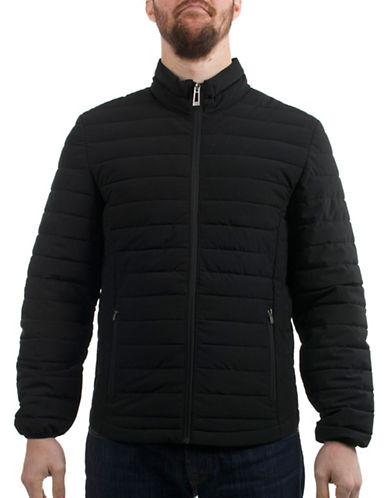 Company Of Adventurers Quilted Polyester Stretch Jacket-BLACK-Medium