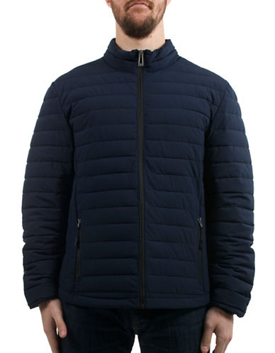 Company Of Adventurers Quilted Polyester Stretch Jacket-BLUE-Small