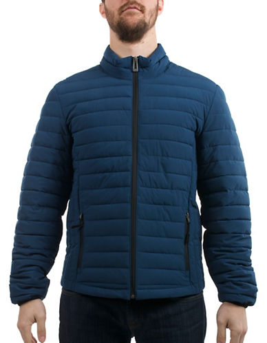 Company Of Adventurers Quilted Polyester Stretch Jacket-DEEP BLUE-Small