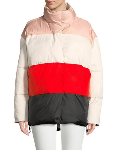 Biannual Colourblocked Puffer Coat-WHITE-X-Small