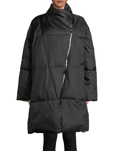Biannual Oversized Wrap Puffer Coat-BLACK-Small